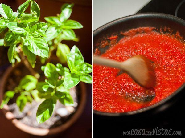 Albahaca y tomate