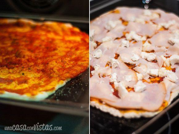 Cocinando la pizza