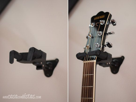 Detalle soporte de guitarra