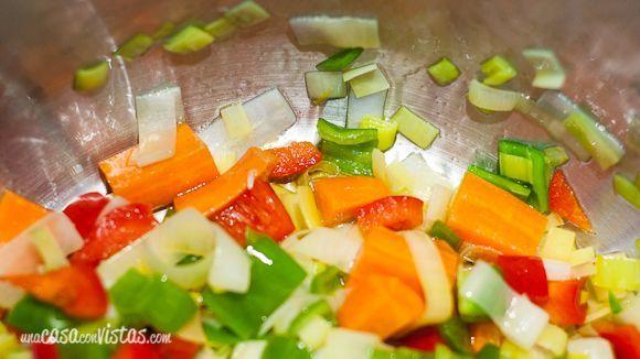 Rehogando la verdura