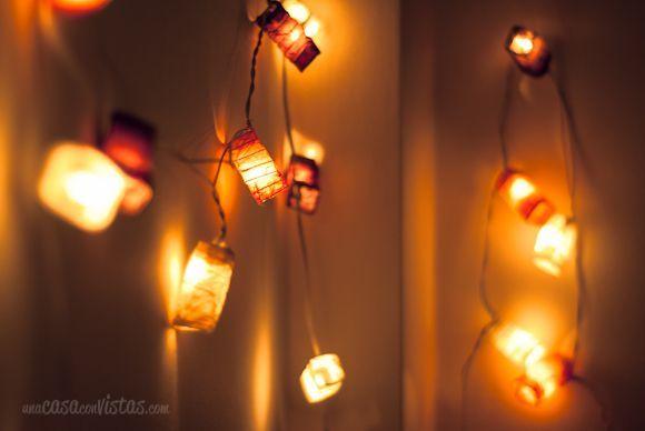 Guirnalda de luces de papel una casa con vistas - Guirnaldas de luces ...