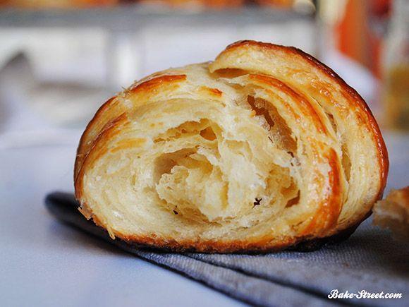 Detalle croissant casero