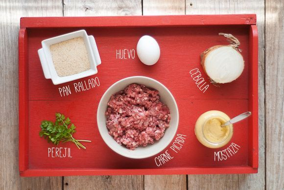 Ingredientes hamburguesa casera