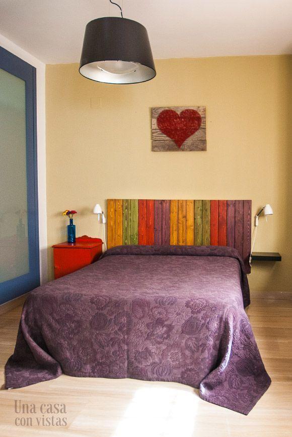 Cabecero de madera hecho a mano una casa con vistas - Cabeceros de cama hechos a mano ...