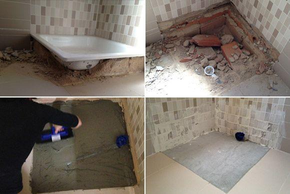 Proceso obra baño
