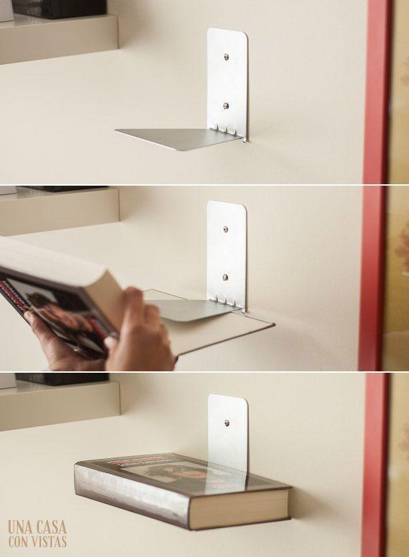 Funcionamiento estantería invisible para libros