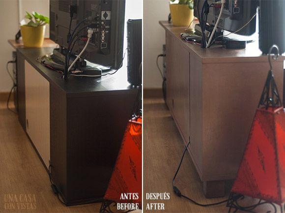 Mueble renovado con pintura Chalk Paint antes y después