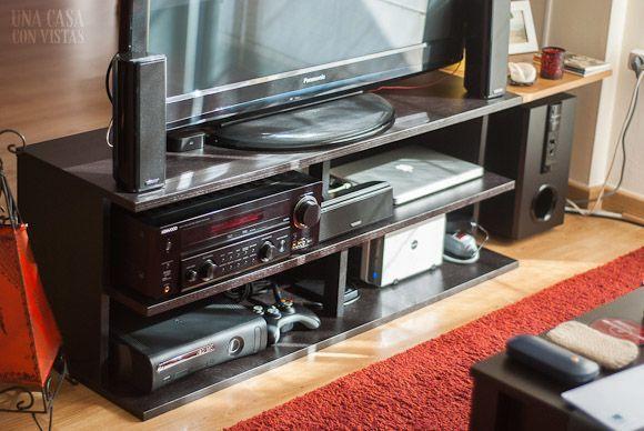 Mueble tv negro de Ikea