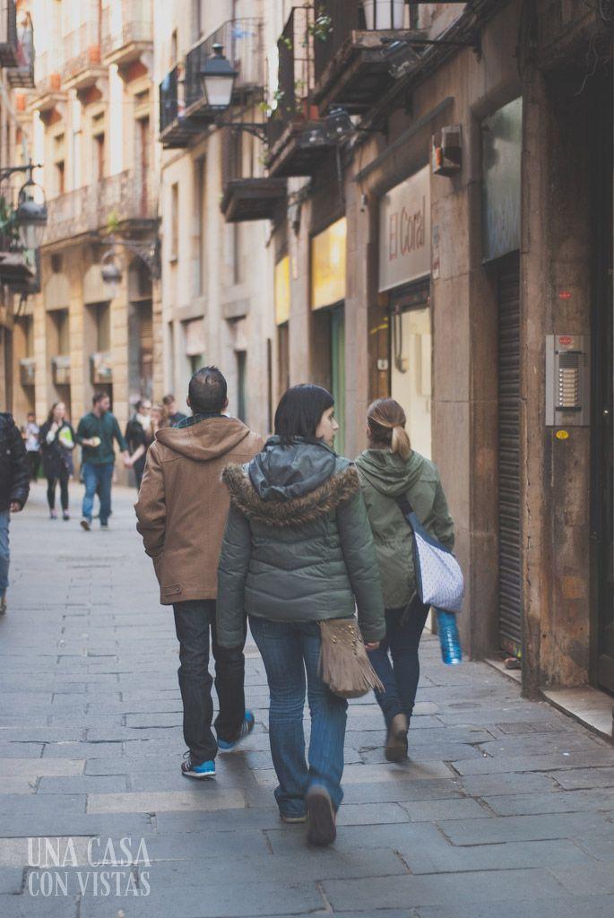 Calle del barrio Gótico de Barcelona