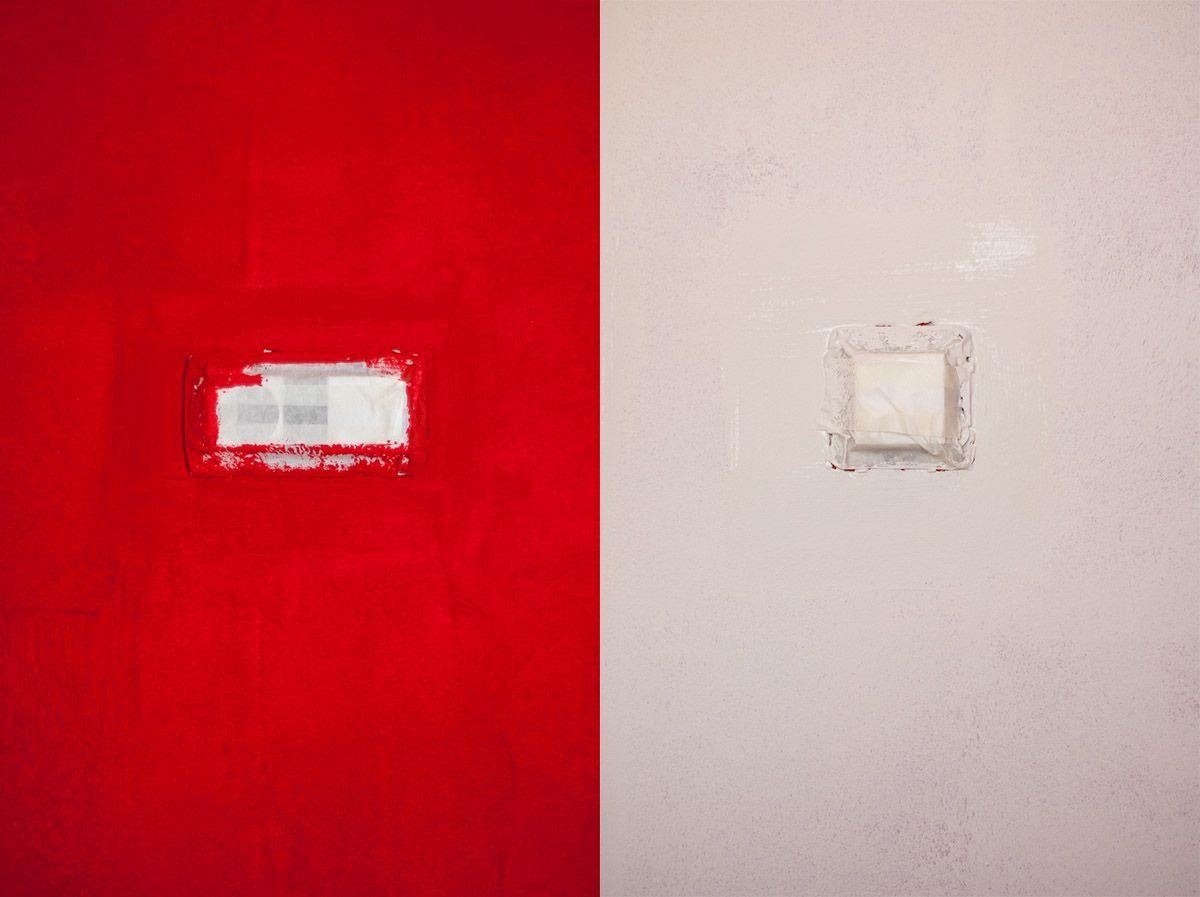 Pintando el dormitorio de dos colores una casa con vistas - Salones pintados en dos colores ...