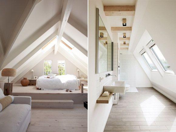 Buhardilla con dormitorio y baño