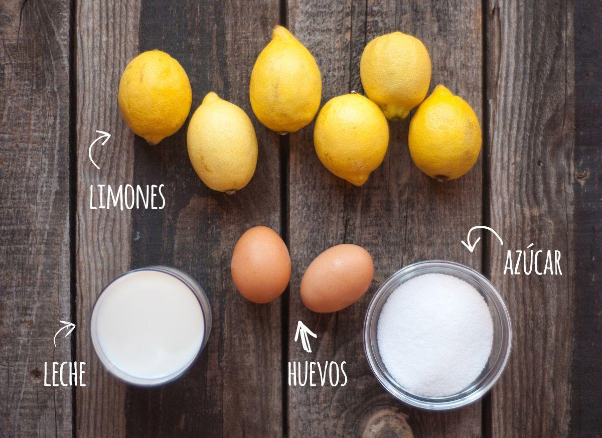 Ingredientes Helado de limón casero