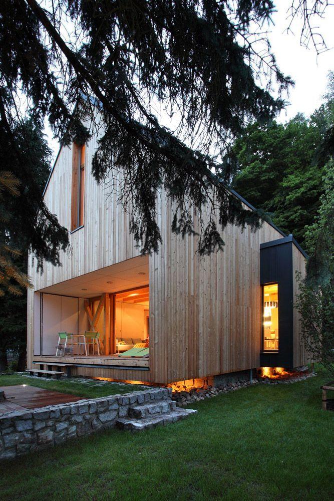 Inspiraci n casas de madera una casa con vistas - Casas de madera minimalistas ...