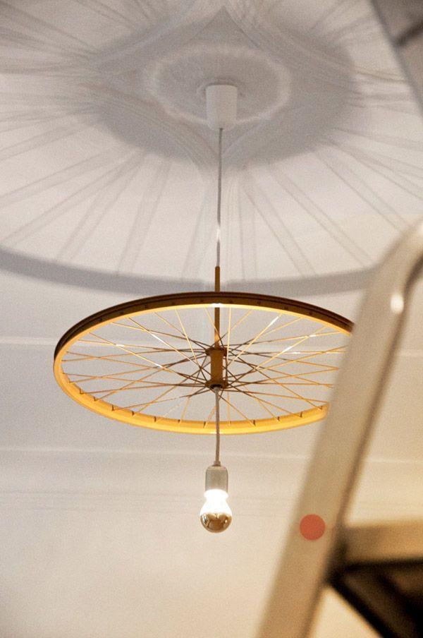 Lámpara de techo rueda