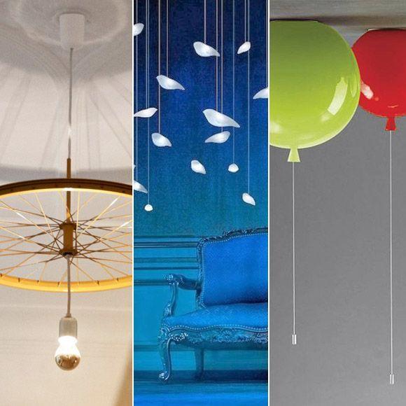 Lámparas de techo curiosas