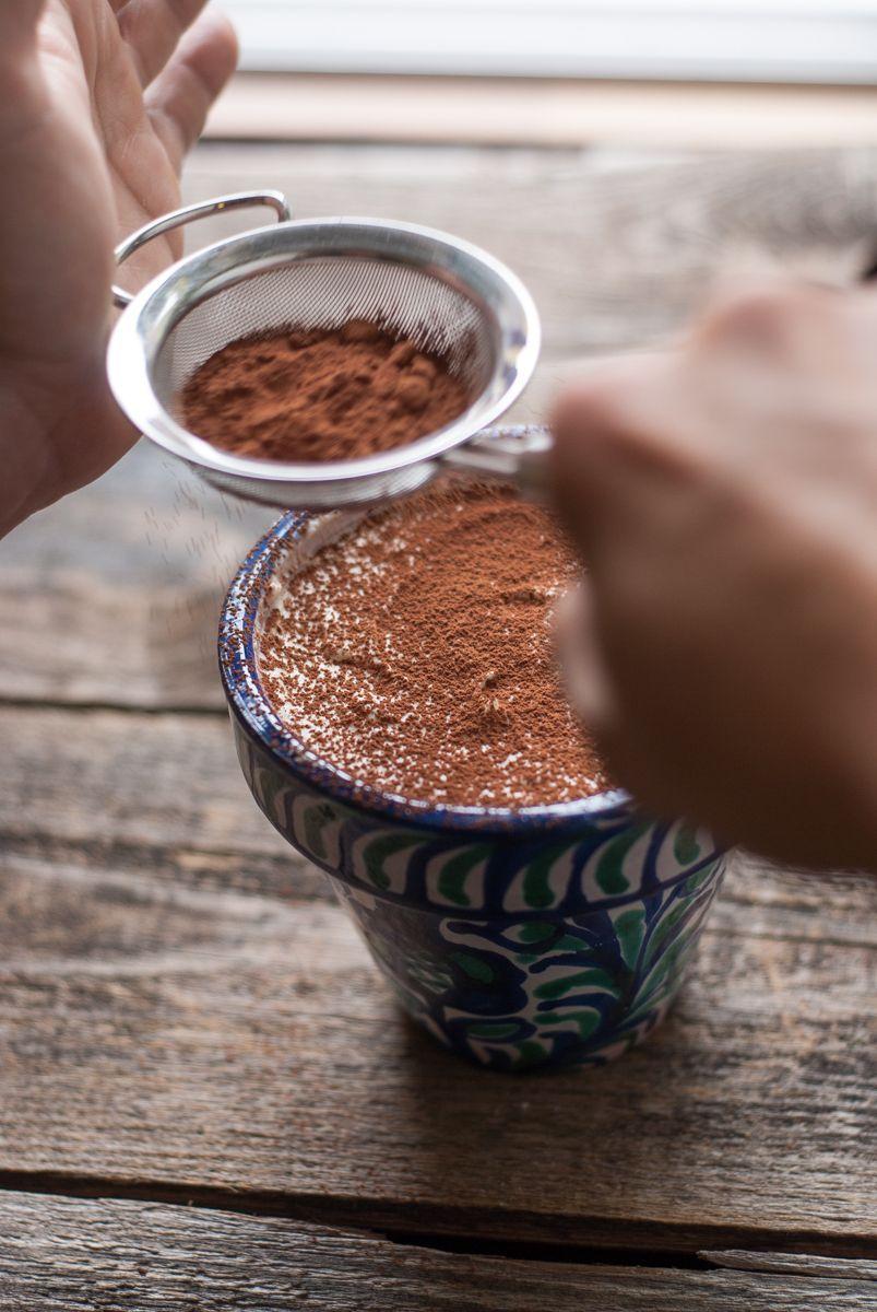 Cacao en tiramisú