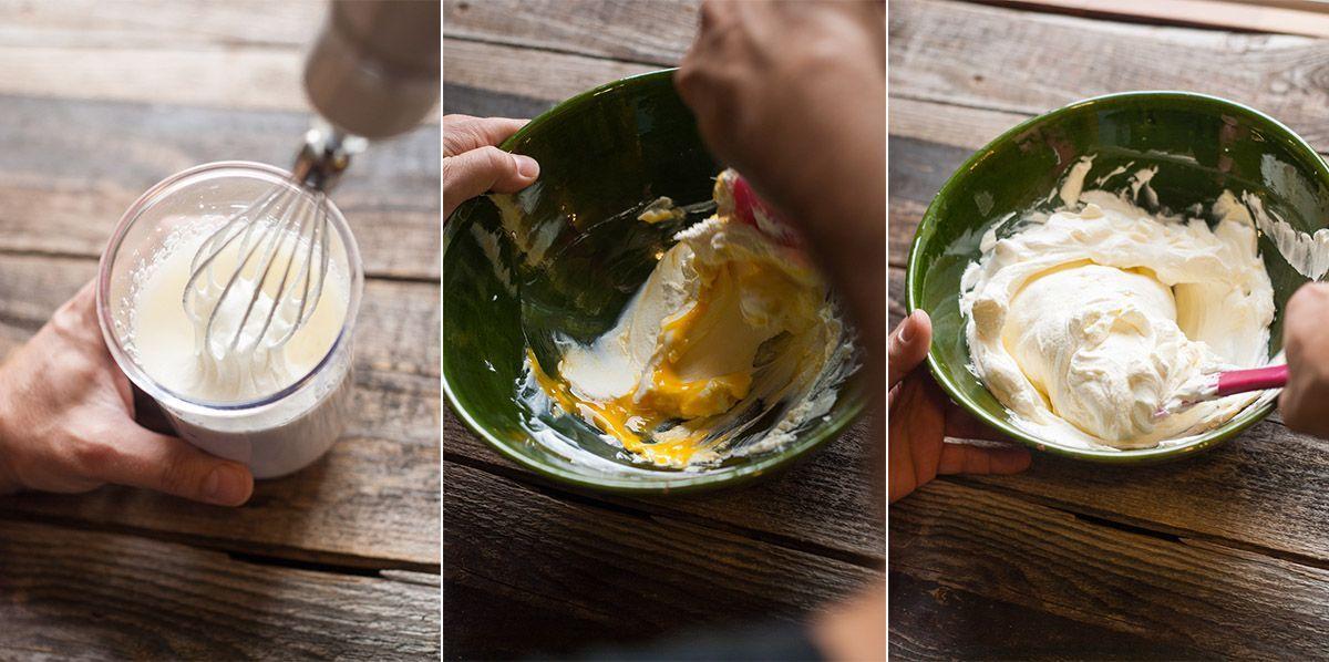 elaborando la crema del tiramisú