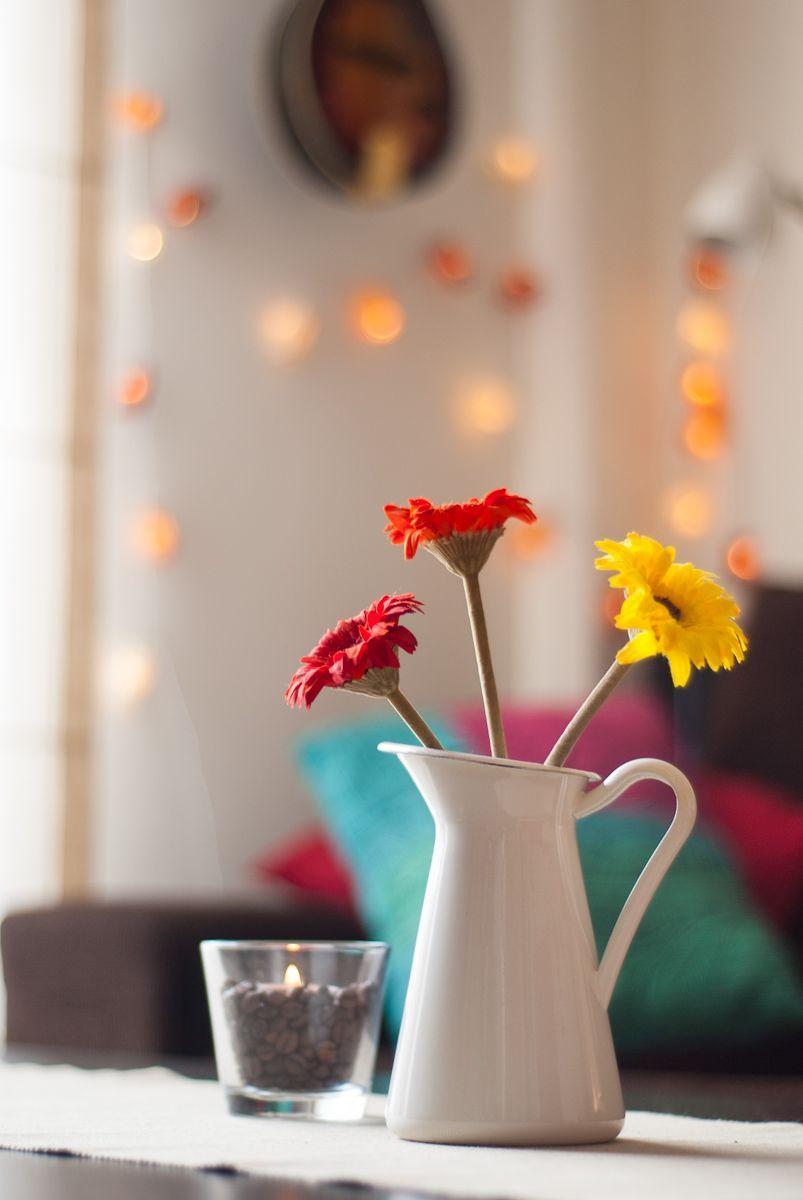 Jarra de Ikea con flores