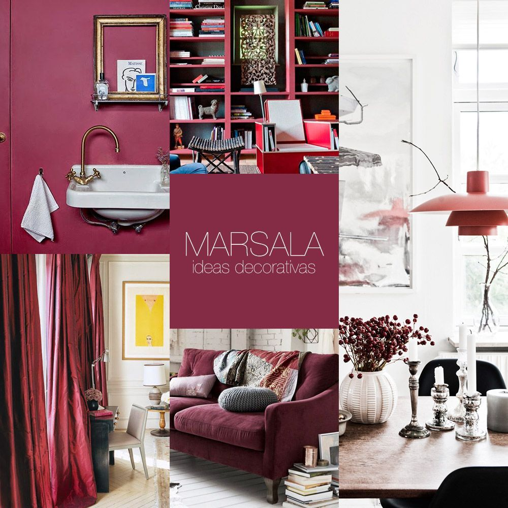 Ideas decorativas con Marsala