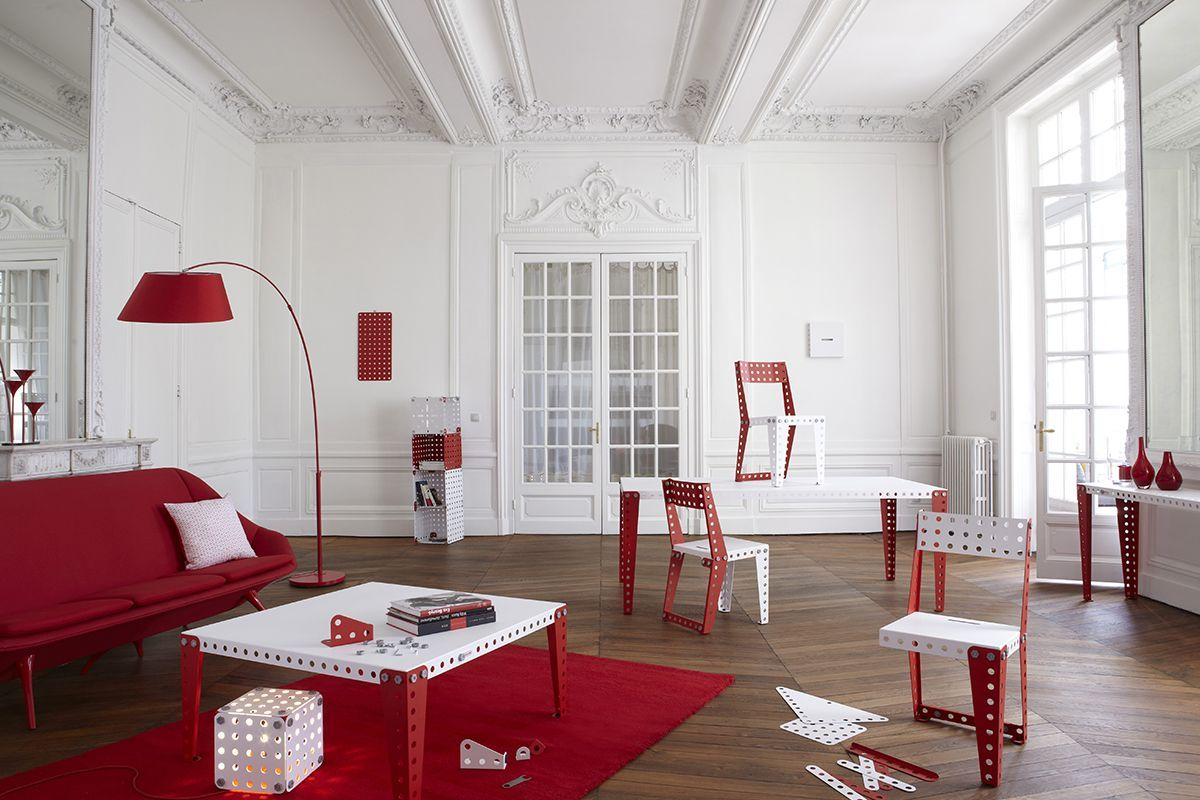 Salón con muebles Meccano