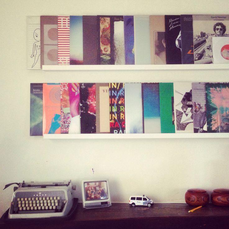 estante para colocar discos de vinilo