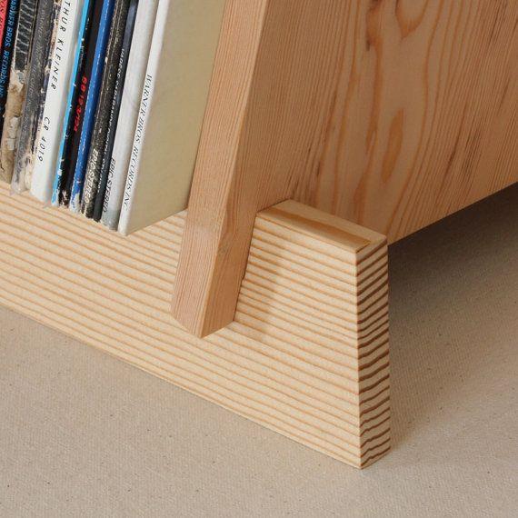Soporte de madera para vinilos