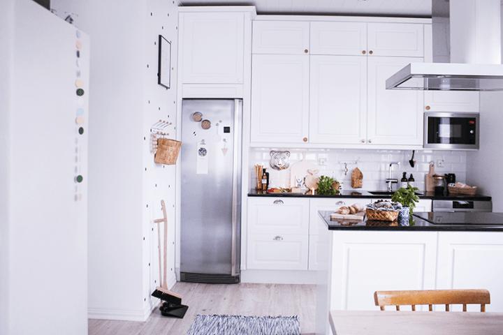 Cocina abierta de estilo nórdico