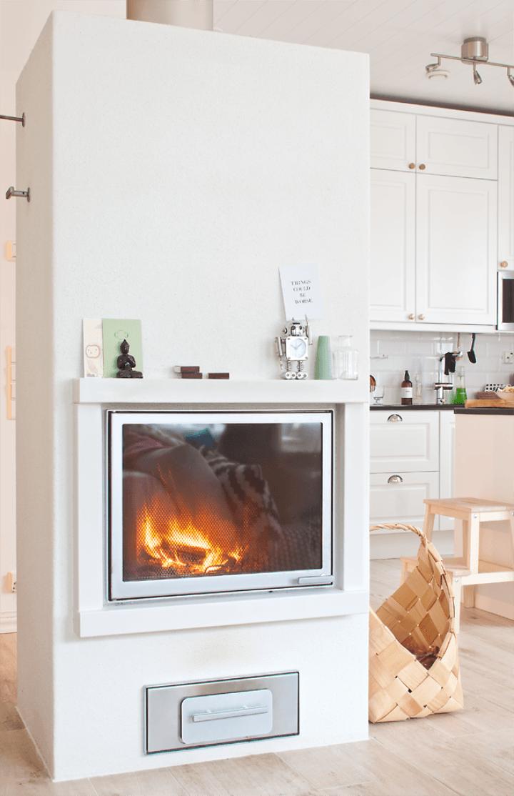 Estufa en vivienda nórdica