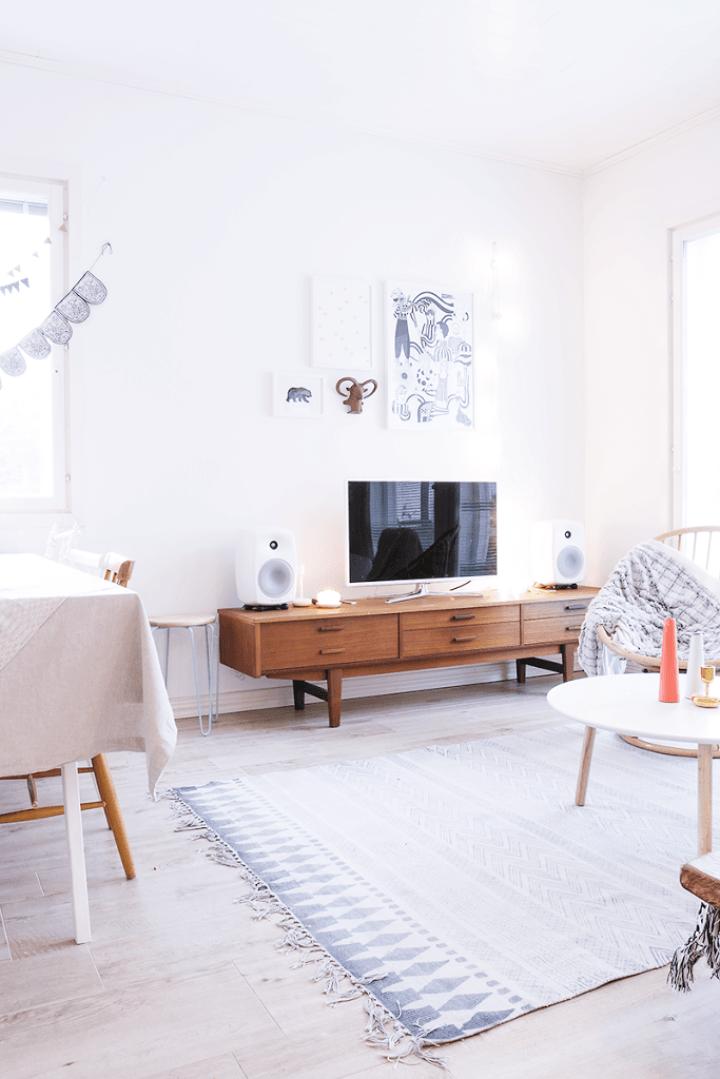 Mueble aparador TV de estilo nórdico