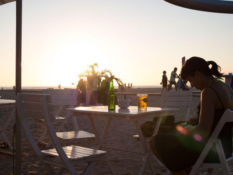 Atardecer en la playa de Zahara de los Atunes