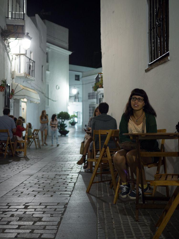 Callecita con encanto de noche en Vejer de la Frontera