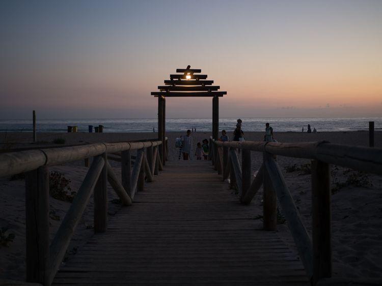 Pasarela hacia playa El Palmar, Cádiz