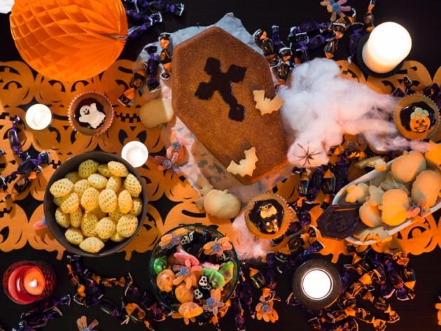 Merienda y decoración de Halloween