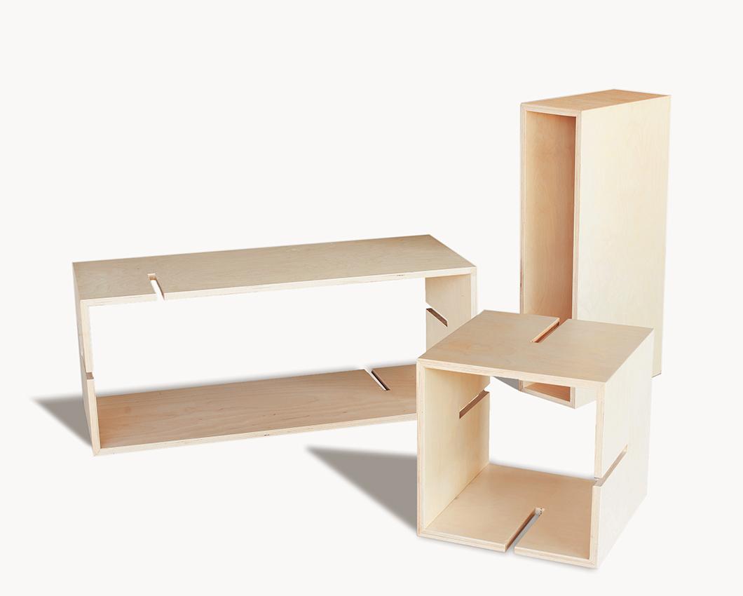 estantera modular personalizable de madera