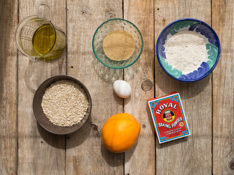 Ingredientes galletas de avena