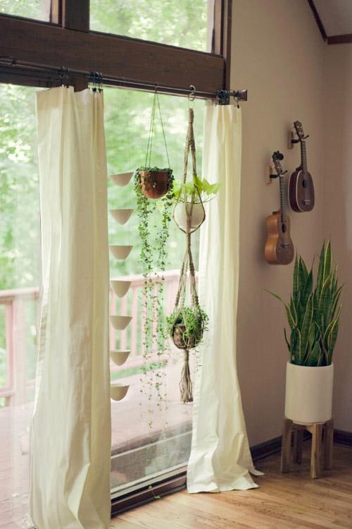 Plantas colgantes de macrame para decorar