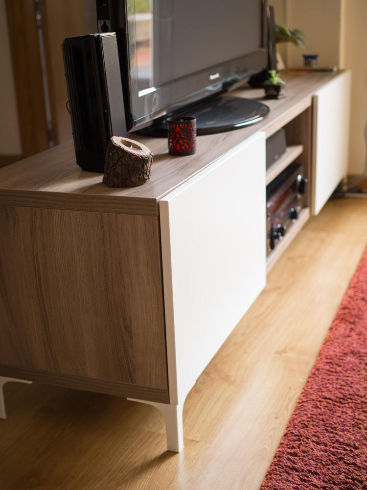 Nuestro mueble Bestå de Ikea para la tv