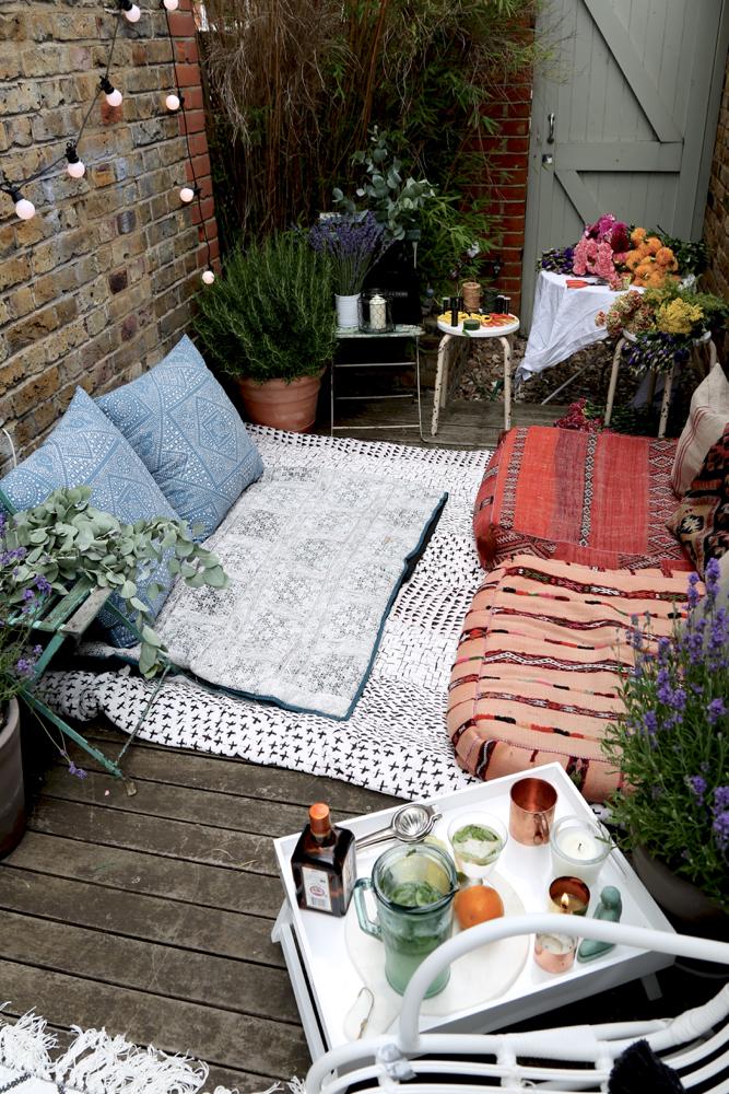 Decoración textil terraza