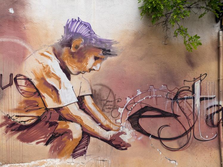 Graffiti Joe Strummer El niño de las pinturas