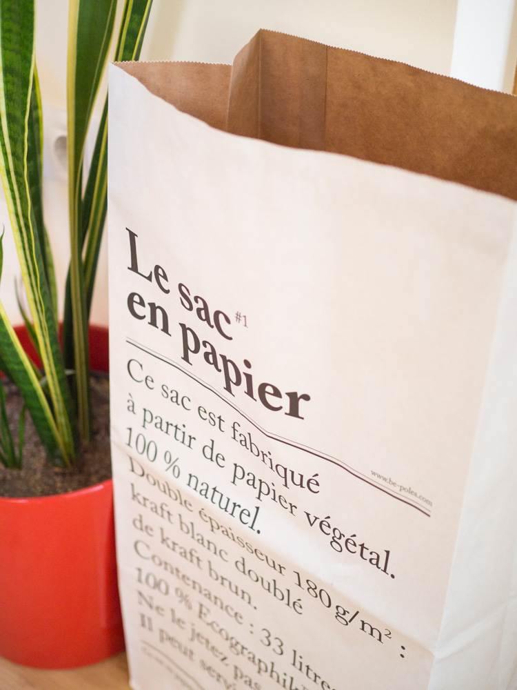 Decoración con Le sac en papier