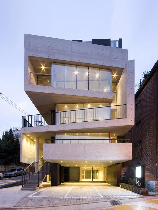 Edificio de hormigón en Korea del Sur