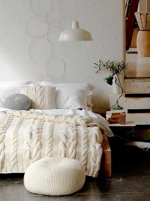 Ropa de cama de punto