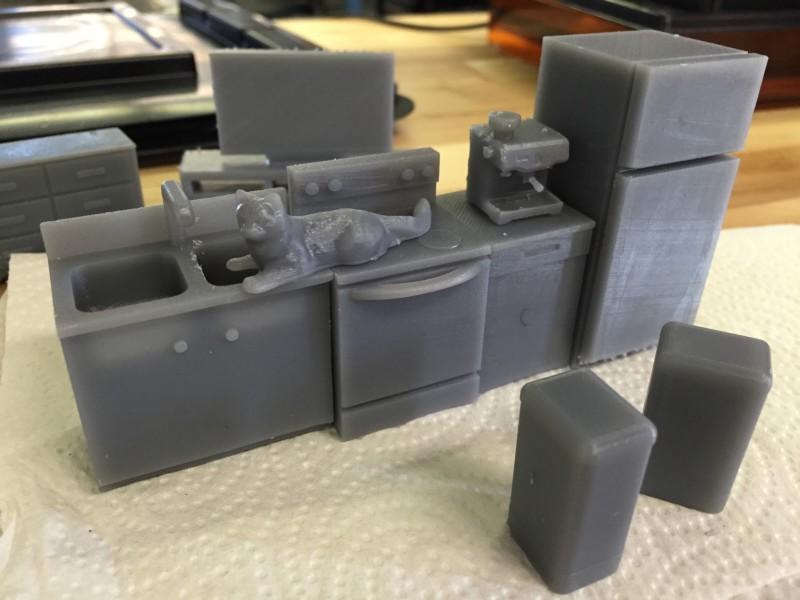 Maqueta vivienda con impresora 3D