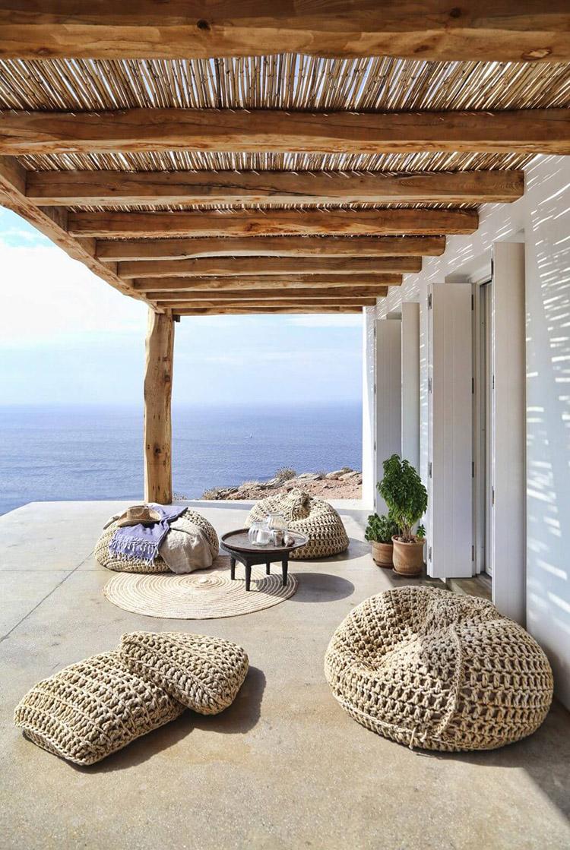 Terraza sencilla con vistas