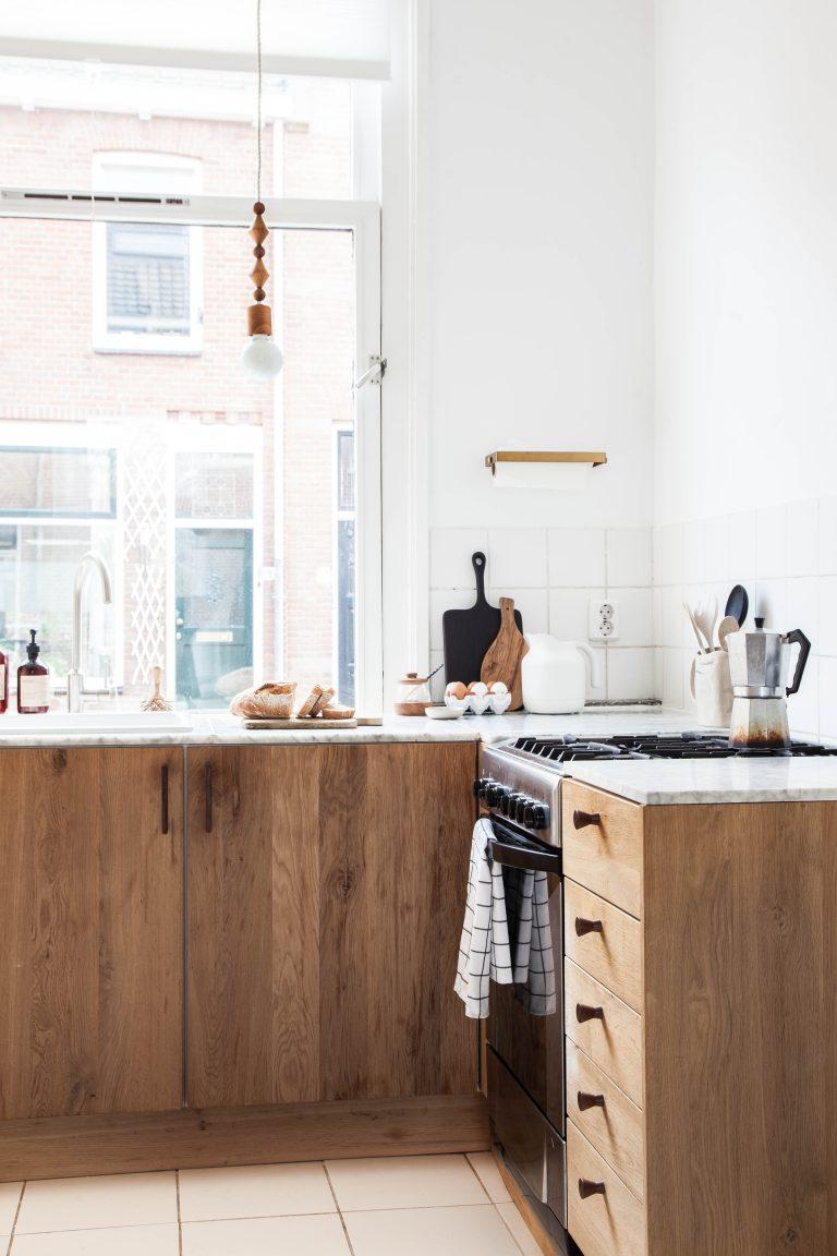 Antes y después cocina de madera