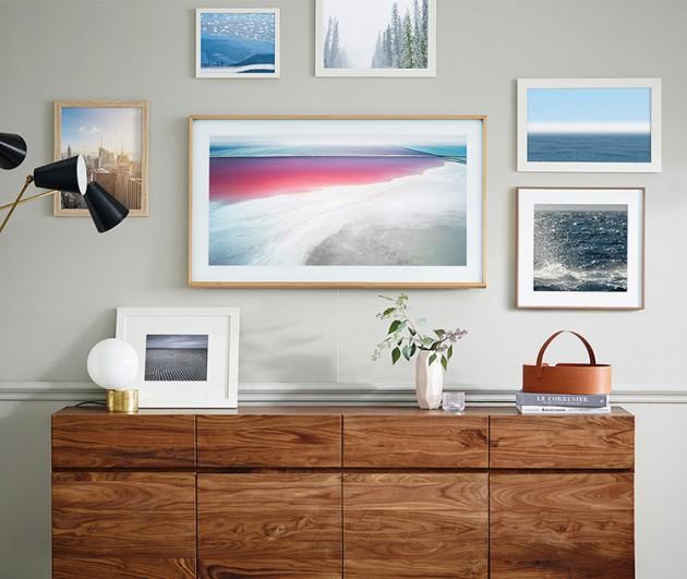 Salón con TV Samsung The Frame