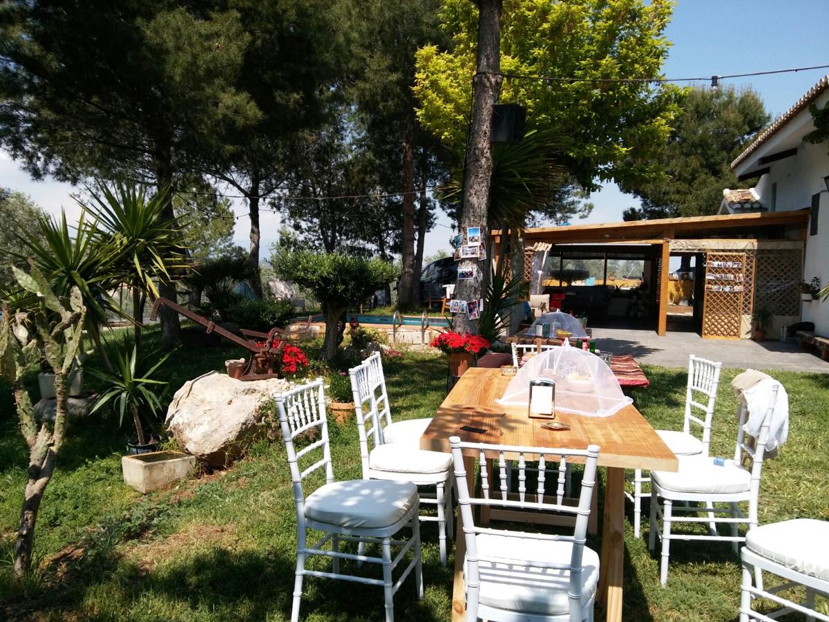 Jardín decorado para boda