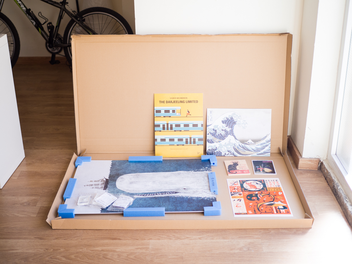 Packaging cuadros Posterlounge