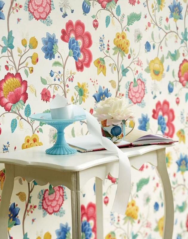 Papel pintado de flores