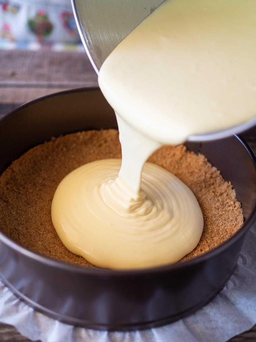 Tarta de queso casera al horno
